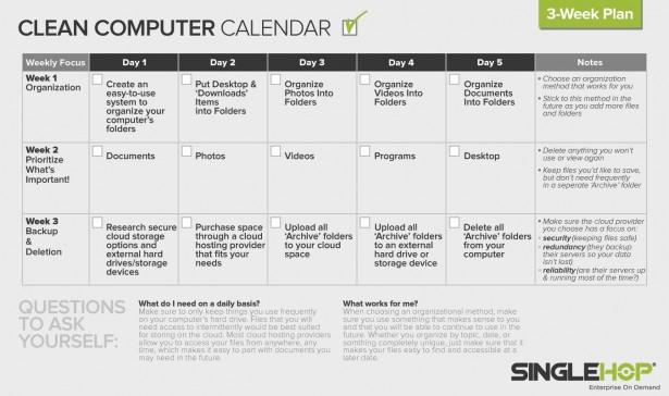 Clean Computer Calendar