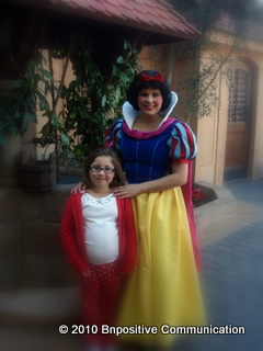 Abby and Snow White at Disney World