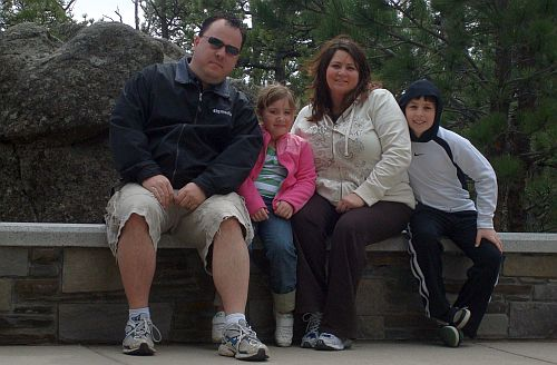 The Bean Family at Rushmore