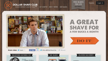 Dollar Shave Club website