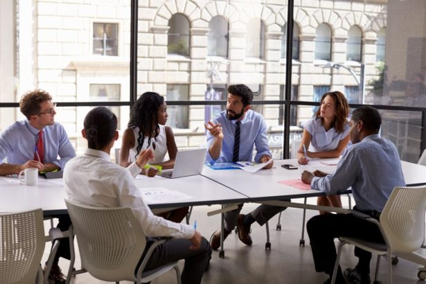 Group of Employees at Conference Table