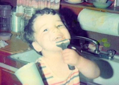 Jason Bean Shaving as a Boy