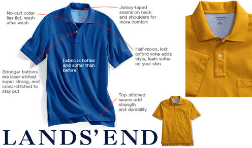 Land's End New Mesh Polo