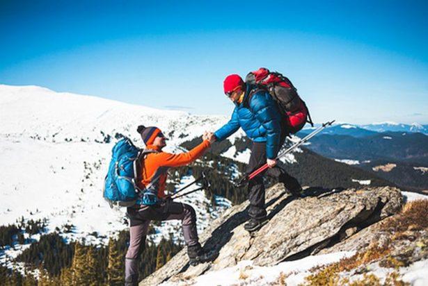Mountain Climbers Hiking