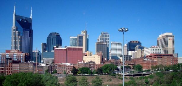 Nashville Skyline from LP Field Stadium