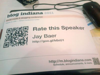 QR Code for Speaker Session Review