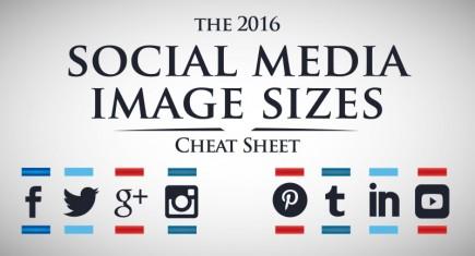 Social Media Image Sizes 2016